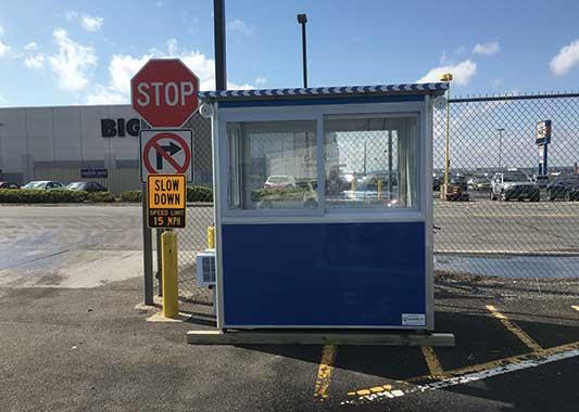 Prefab parking attendant booths for parking lot