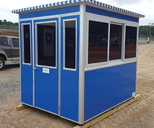 Security shed with tinted window