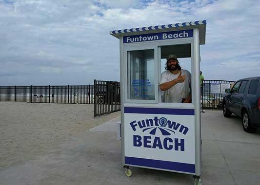 Portable prefab ticket booth