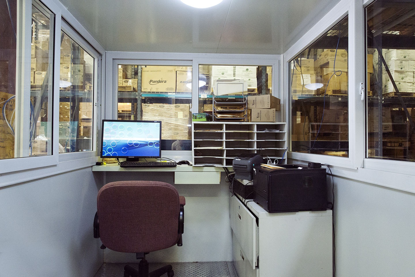 Inside View of a Warehouse Office