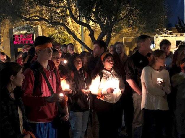 Vigil for Parkland HS shooting victims