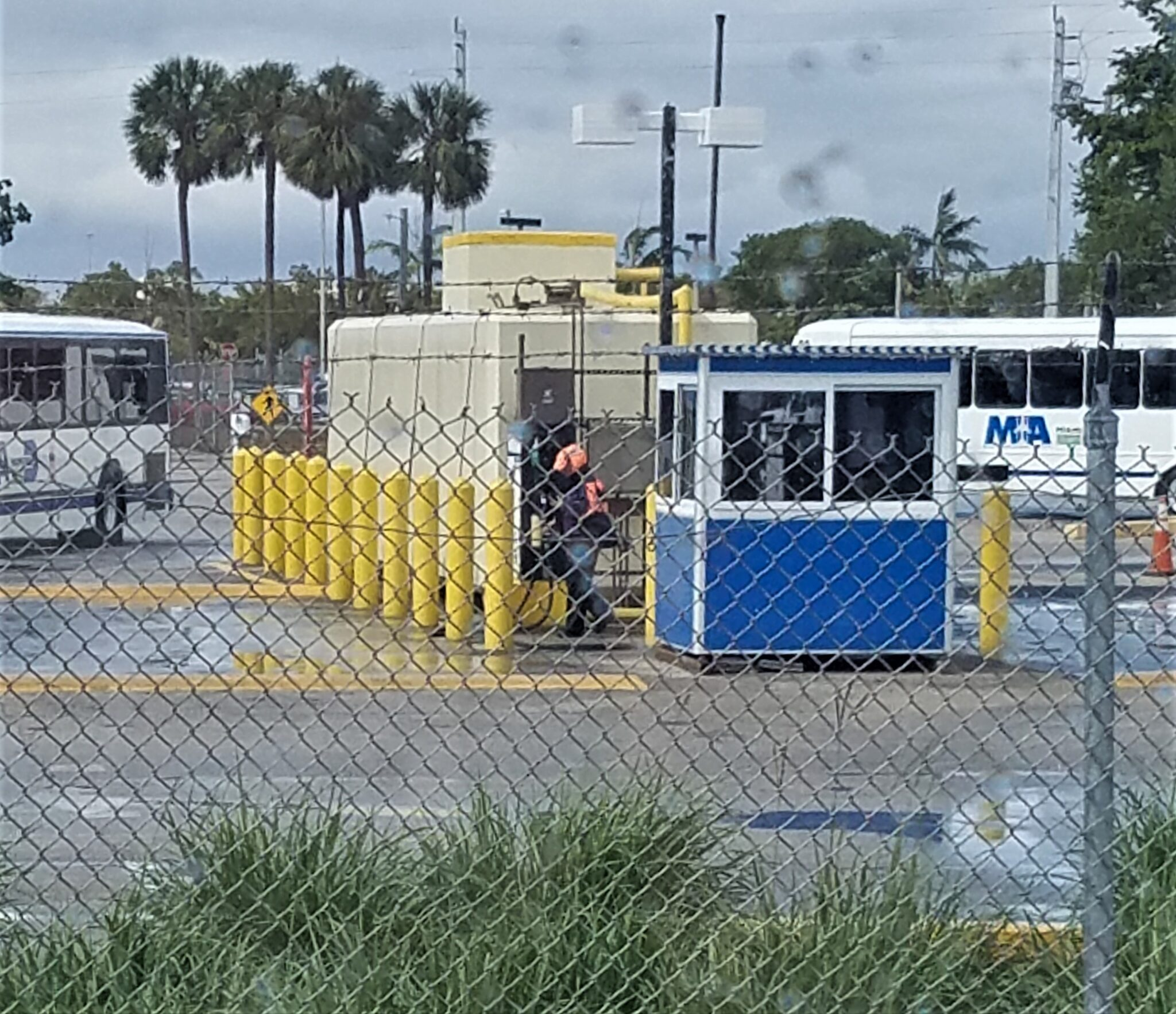 4x6 Security Guard Booth in Miami at Miami International Airport with Tinted Windows, Swing Door, Breaker Panel Box