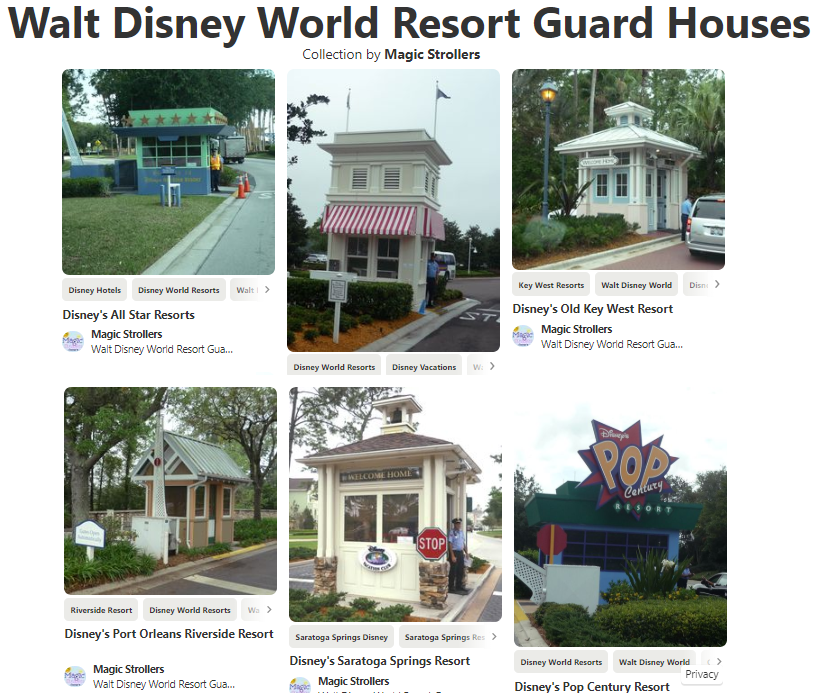 Interesting guard booths across the USA.