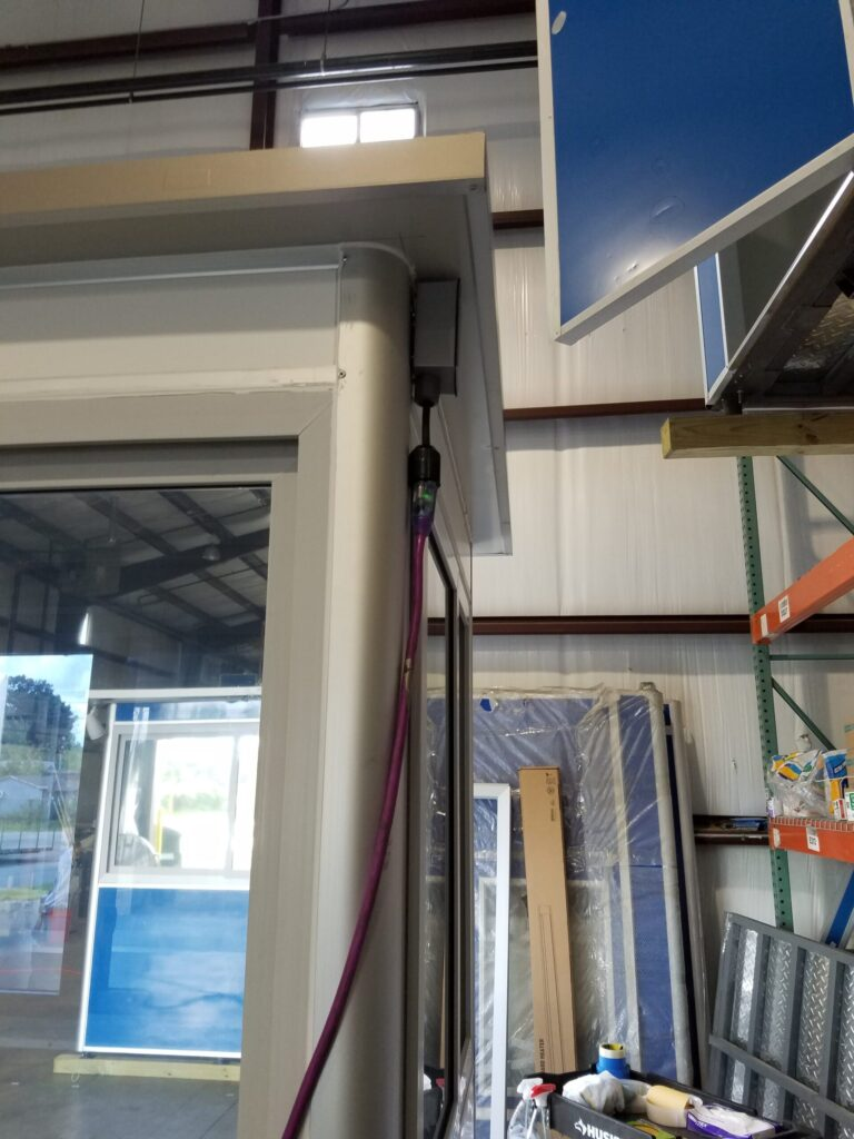 4x6 Booth hooked to extension cord