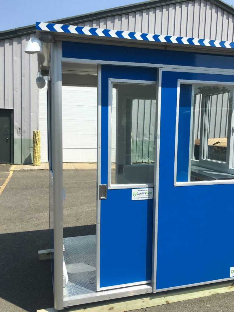 4x6 Entrance Gate Booth in Portland, OR with Sliding door, Outside Spotlights, Panel Box, and Built-in Ac