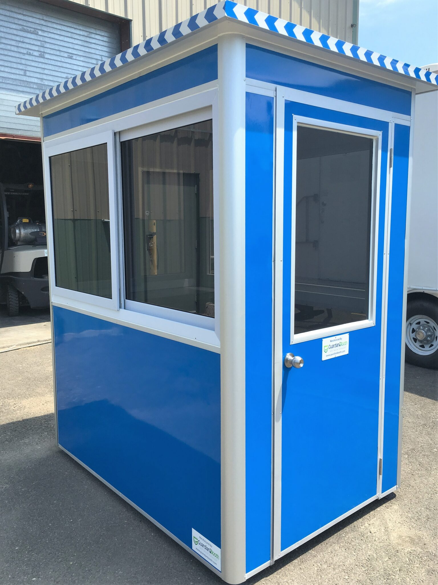 4x6 Parking Booth in Berkeley, CA with Tinted Windows, Swing Door, and Breaker Panel Box