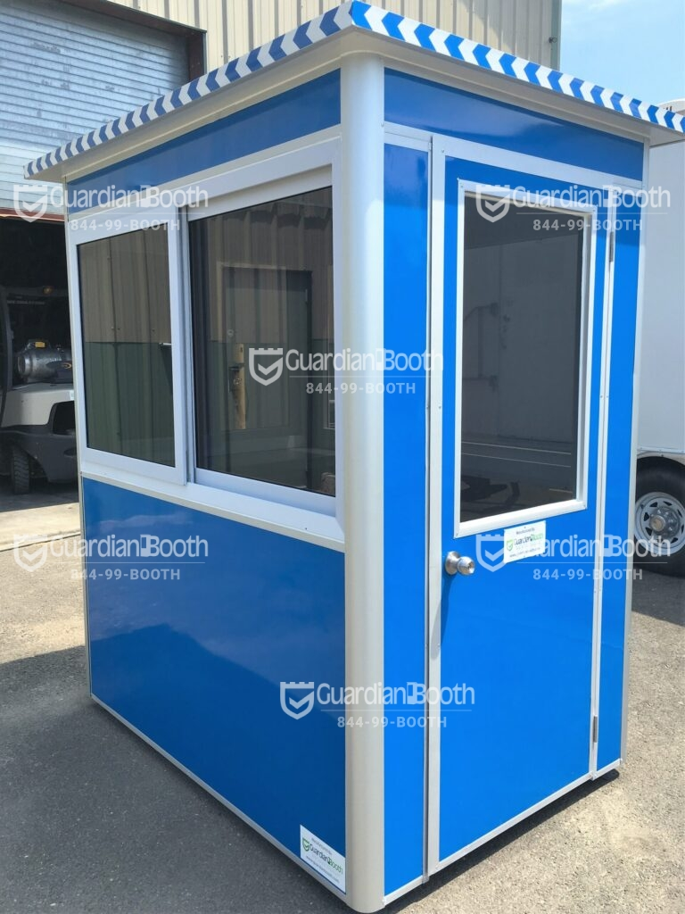 4x6 Parking Booth in Berkeley, CA with Tinted Windows, Swing Door, and Breaker Panel Box