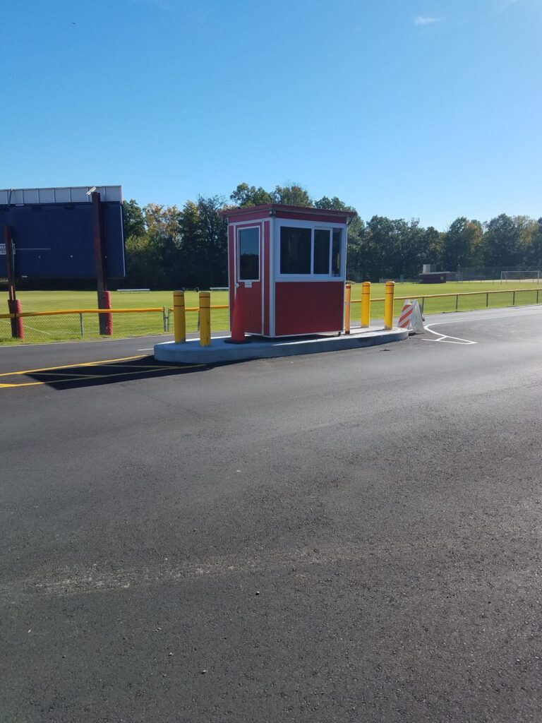 4x6 Parking Booth in Hopewell Junction, NY with Exterior Color Change, Outside Spotlights, and Tinted Windows