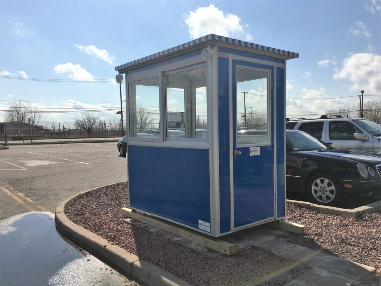 4x6 Security Guard Booth in Elizabeth, NJ with Swing Door, Breaker Panel Box, and Baseboard Heaters