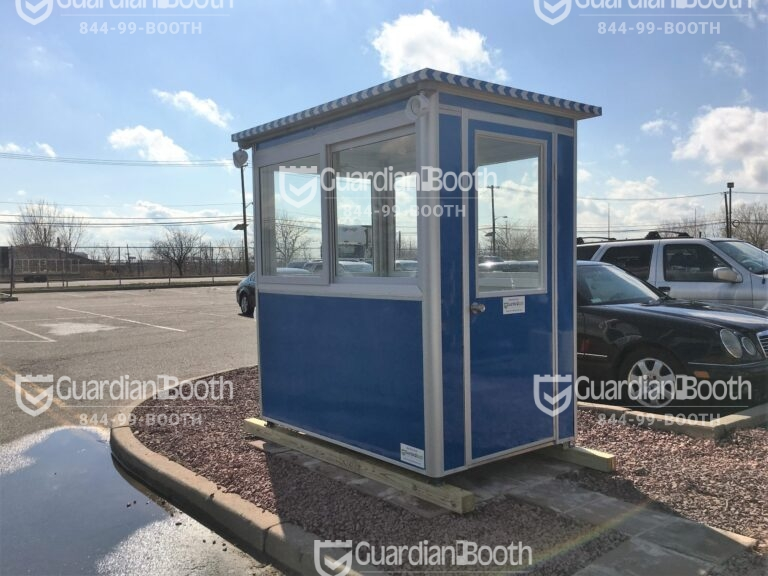 4x6 Security Guard Booth in Elizabeth, NJ with Swing Door, Breaker Panel Box, and Baseboard Heaters