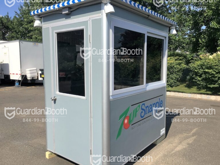 4x6 Security Guard Booth in San Antonio,TX with Sliding Windows, Swing Door, and Anchoring Brackets