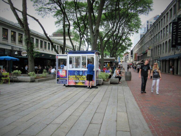4x6 Ticket Booth in Boston, MA with Custom Graphics, Outside Spotlights, Built-in AC,Breaker Panel Box, Swing Door,Sliding Window (3)