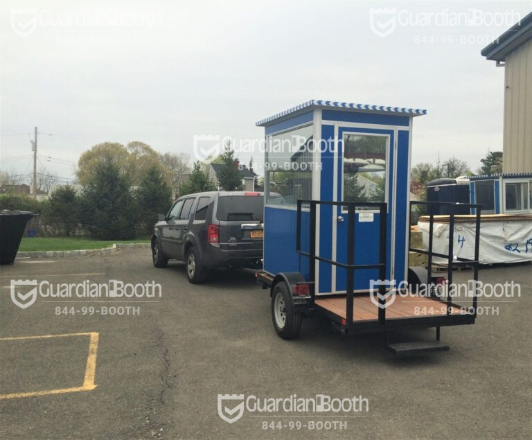 4x6 Trailer Booth in Ulster, PA with Swing Door and Fixed Windows