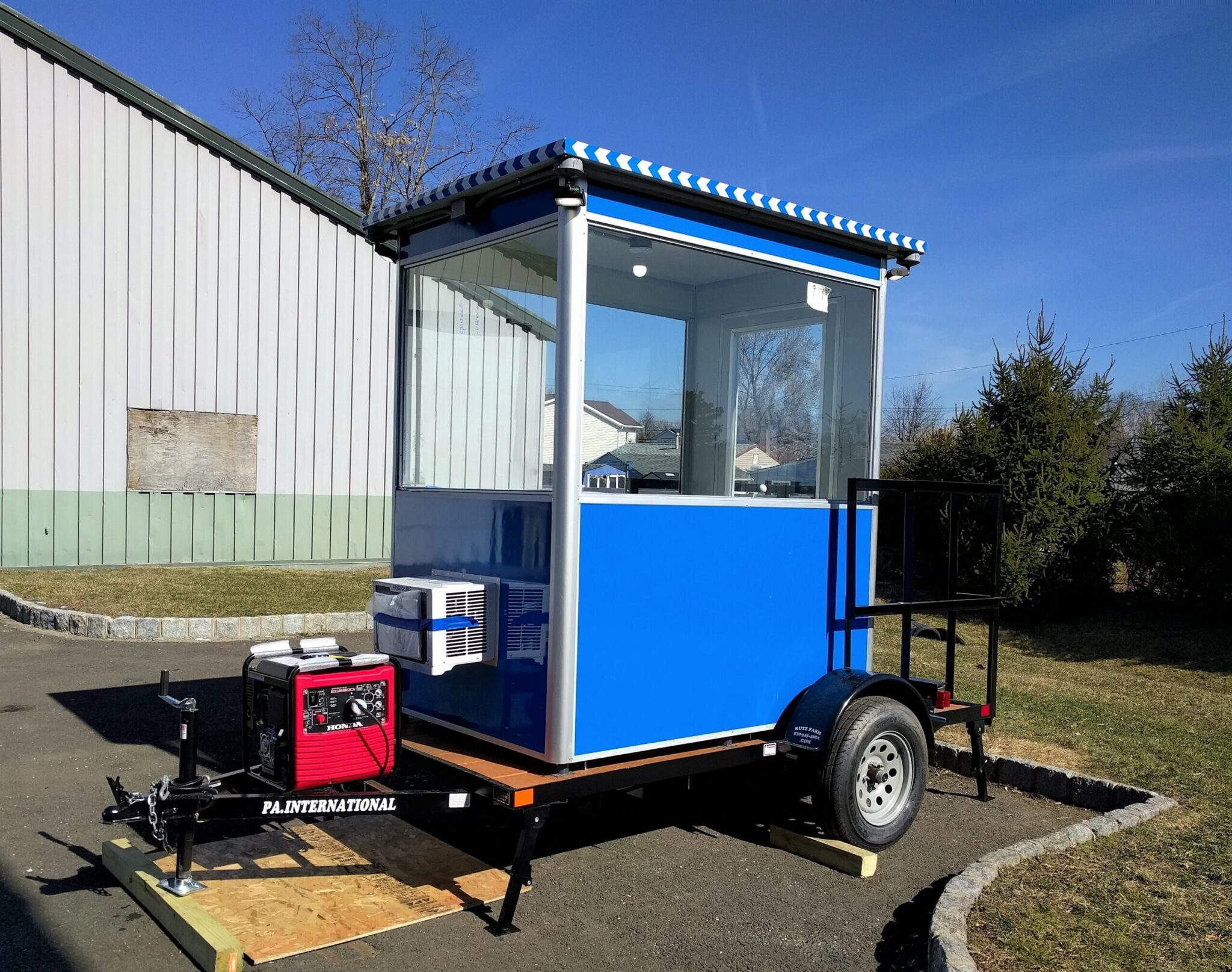 4x6 Trailer Booth with Generator and Built-in AC
