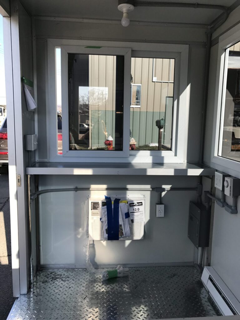 5x7 Booth Interior with Breaker Panel Box, Built-in AC, and Baseboard Heaters