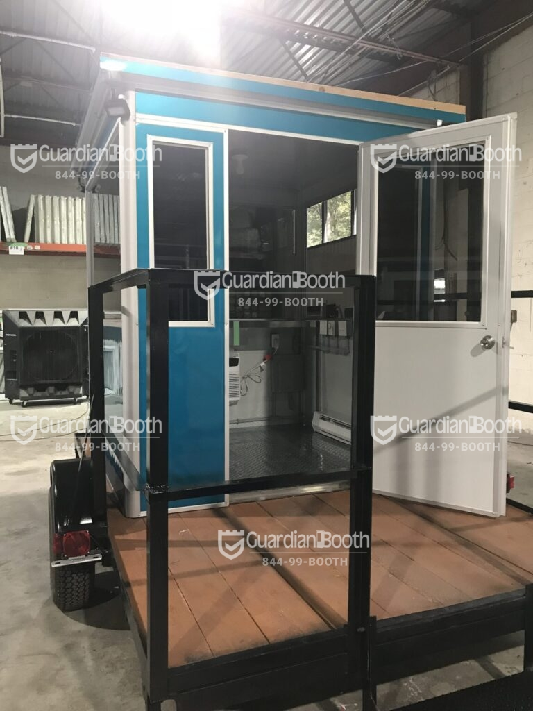 6x6 Trailer Booth in Chalk River, Ontario with Tinted Windows, Swing Door, Fixed Windows