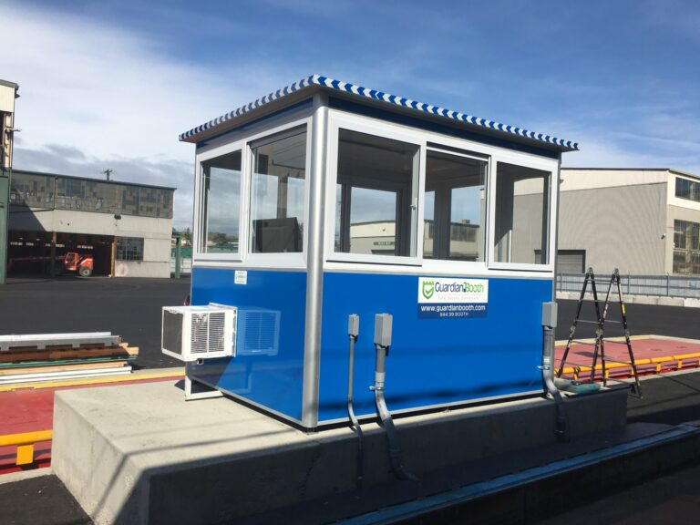 6x8 Security Guard Booth in Seattle, WA with Built-in AC, Breaker Panel Box, and Baseboard Heaters