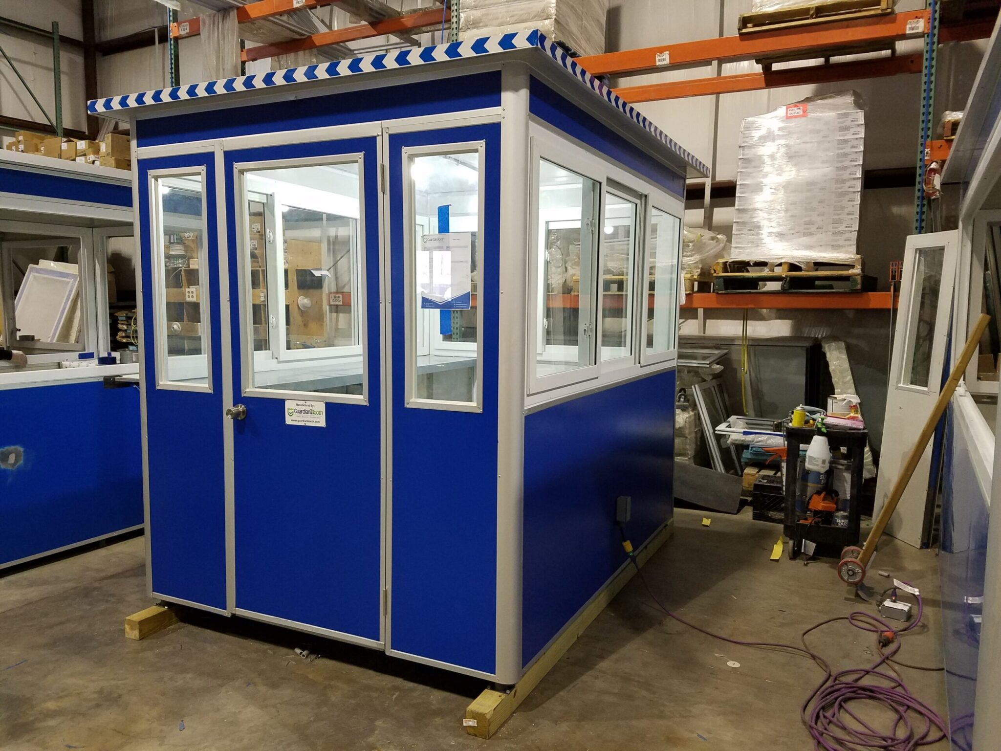 6x8 Ticket Booth in Binghamton, NY with Sliding Windows, Swing Door, and Exterior Electrical Disconnect Switch