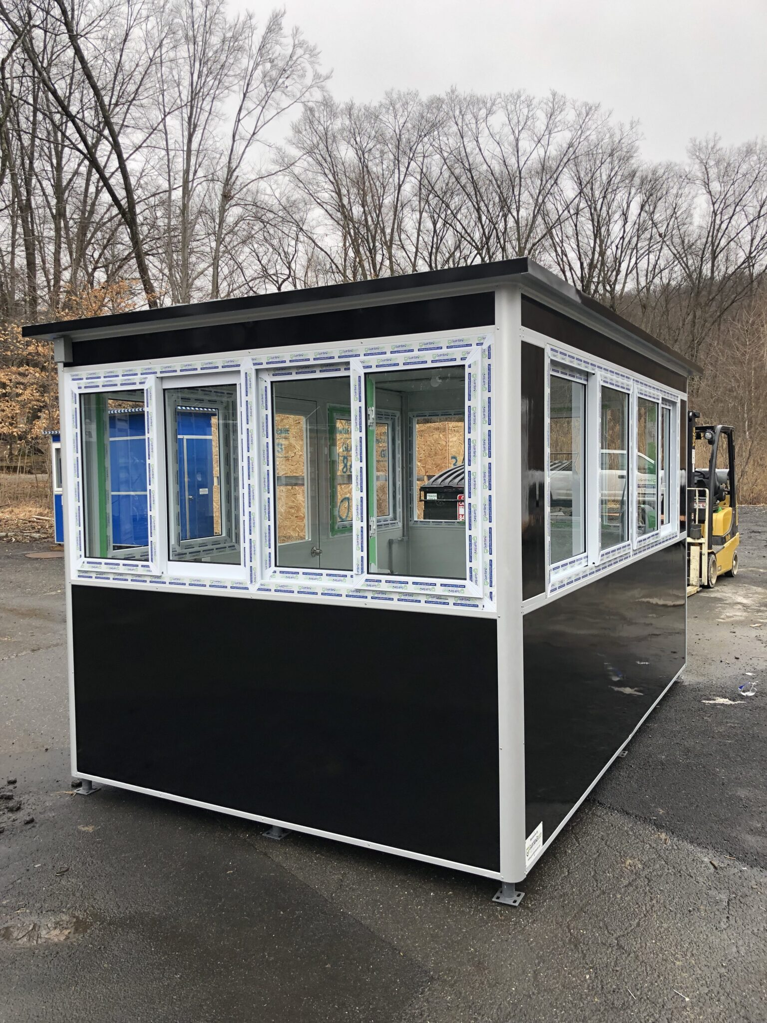 8x12 Parking Booth in Brooklyn, NY at iPark location with Sliding Windows, Custom Exterior Color, Built-in AC, and Breaker Panel Box