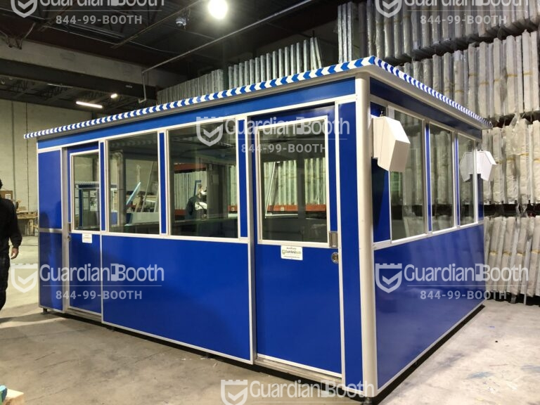 8x16 Security Guard Booth in Turlock, CA with Sliding Doors, ADA Compliant, and Tinted Windows