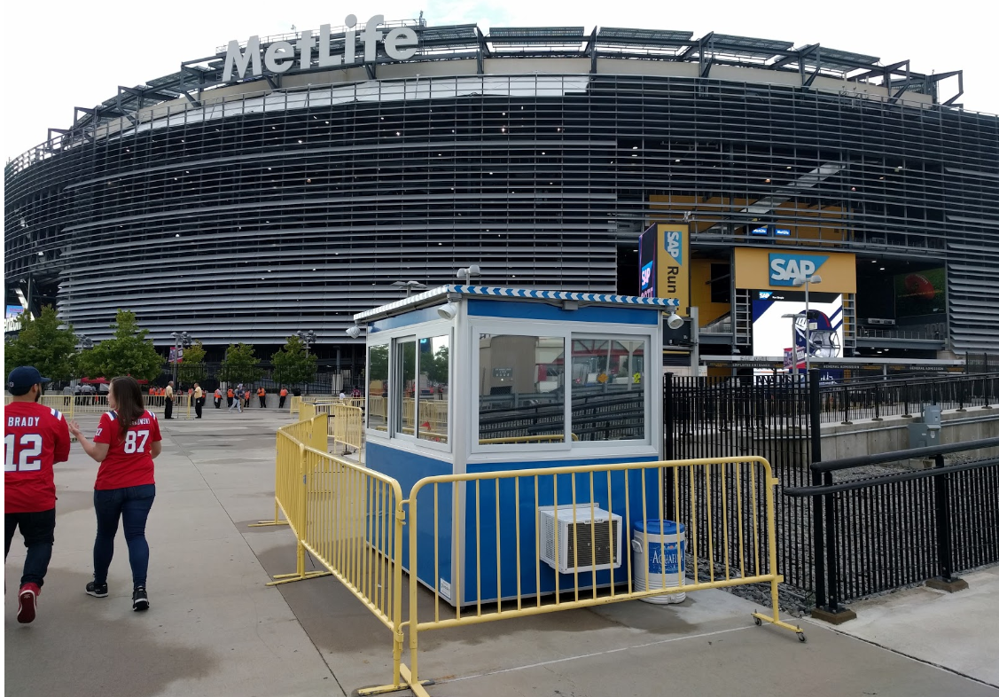 Security booth in front of MetLife Stadium