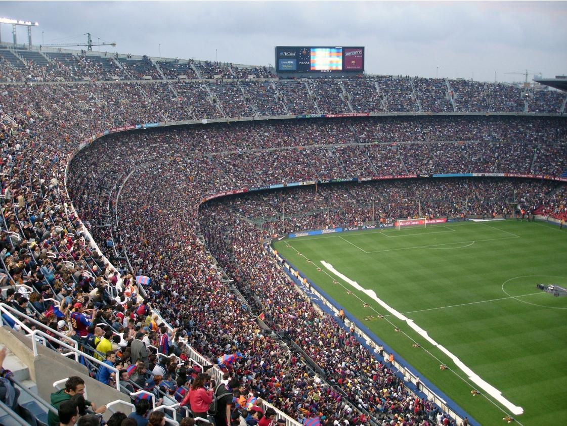 Stadium full of people