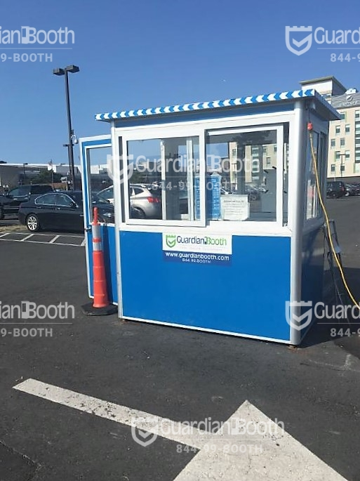 4X6 Parking Booth in Chicago, IL with Sliding Windows, Swing Door, and Baseboard Heaters