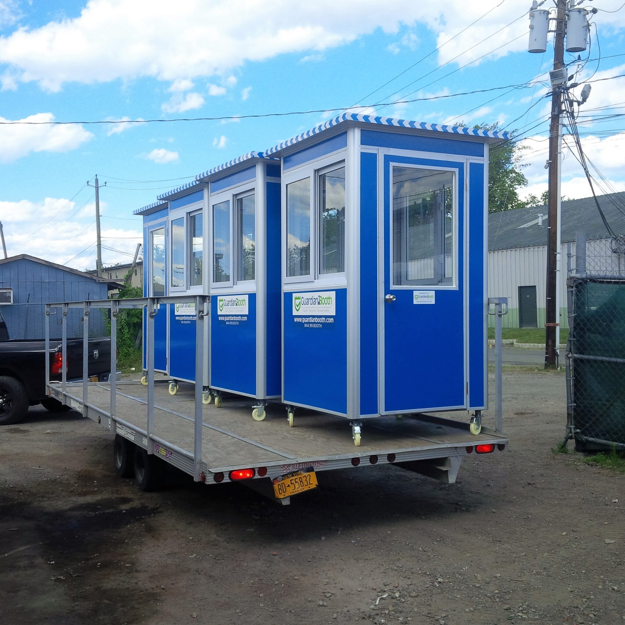 4x4 Booths ready for Delivery in New York, NY with Caster Wheels, Swing Door, and Sliding Windows
