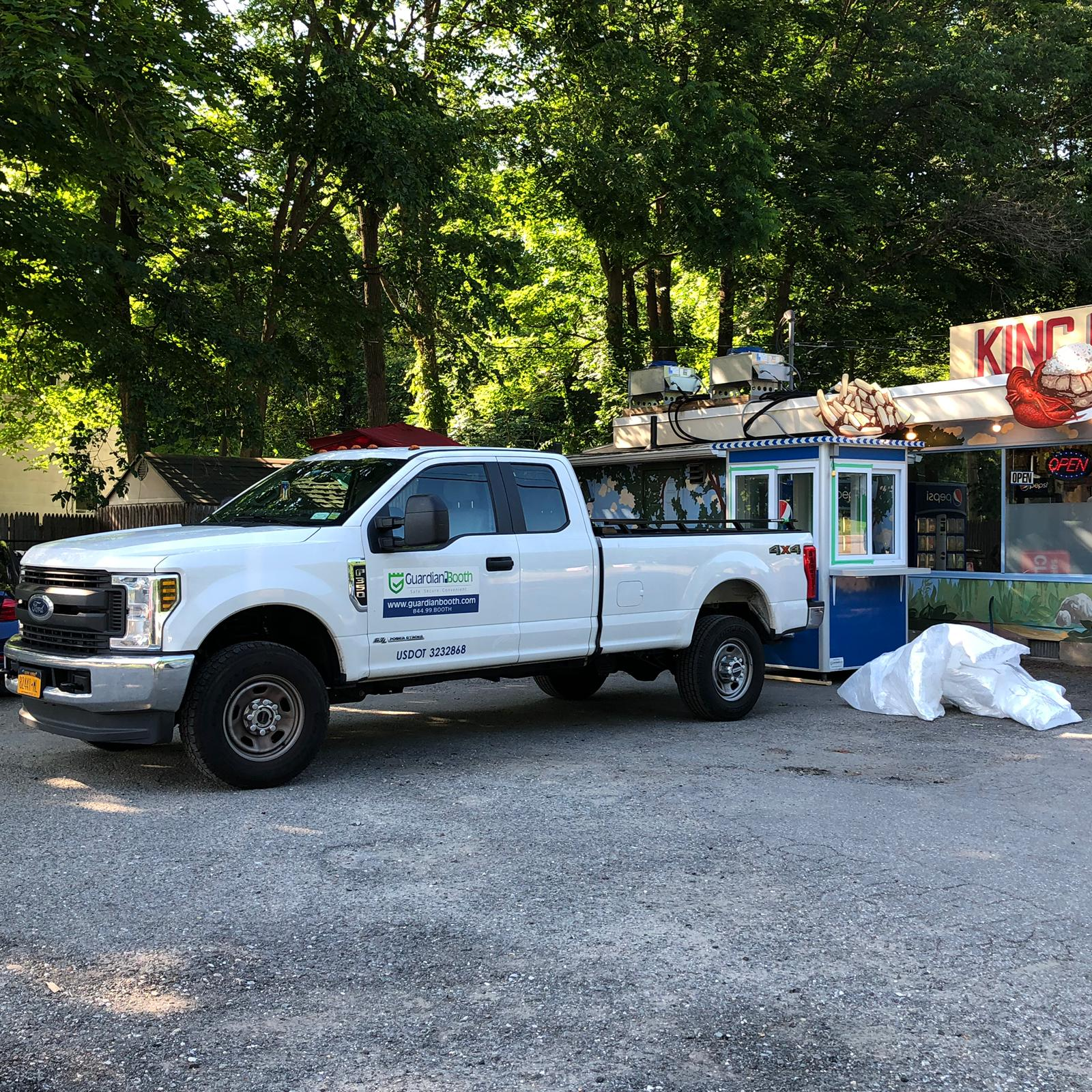 4x4 Guardian Booth Delivered to Katonah, NY with Exterior Counter