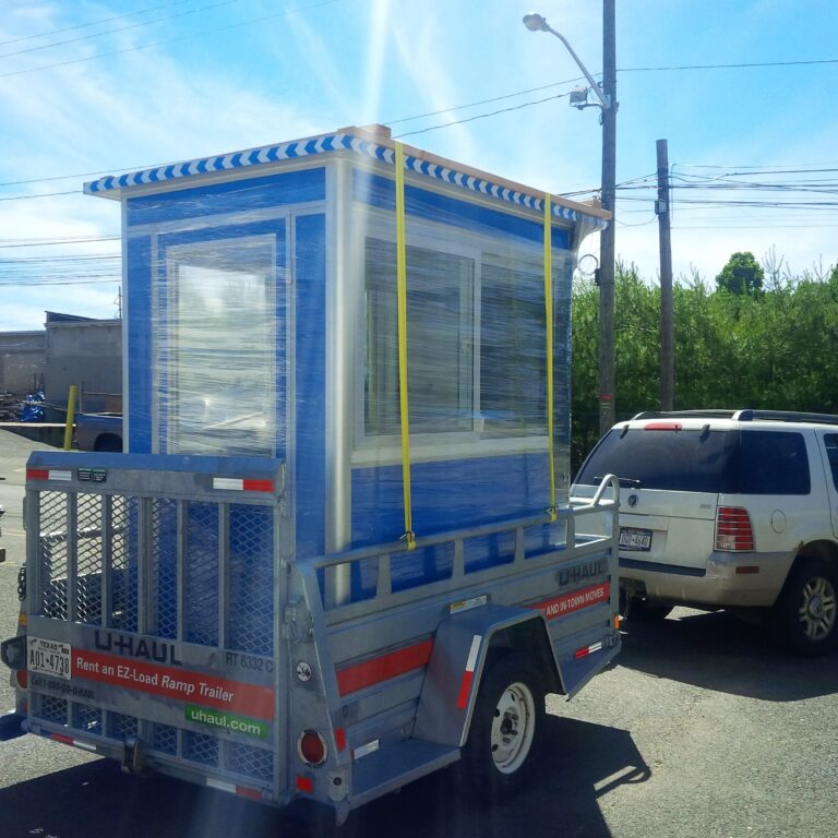 4x6 Booth Ready for Delivery in Bridgeport, Ohio with Swing Door, and Sliding Windows