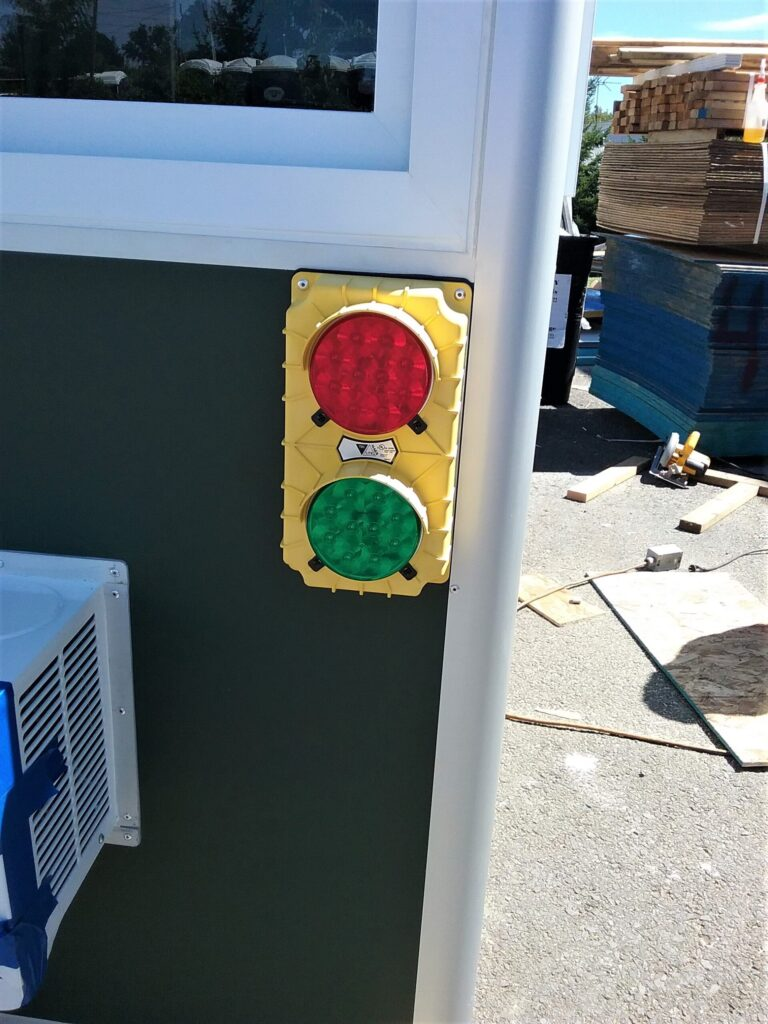 4x6 Booth with Add-On Feature Traffic Lights