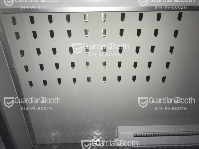 4x6 Booth with Add-On Features Key Hooks