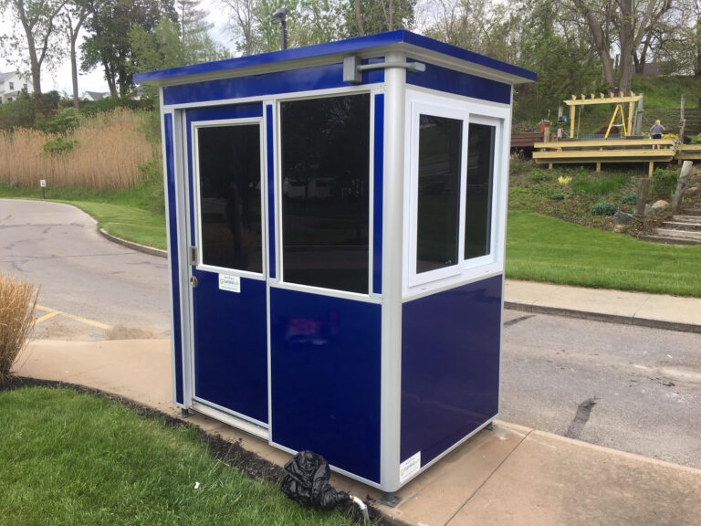 4x6 Booth with Add-On Features with Custom Wrap, Sliding Door, Tinted Windows