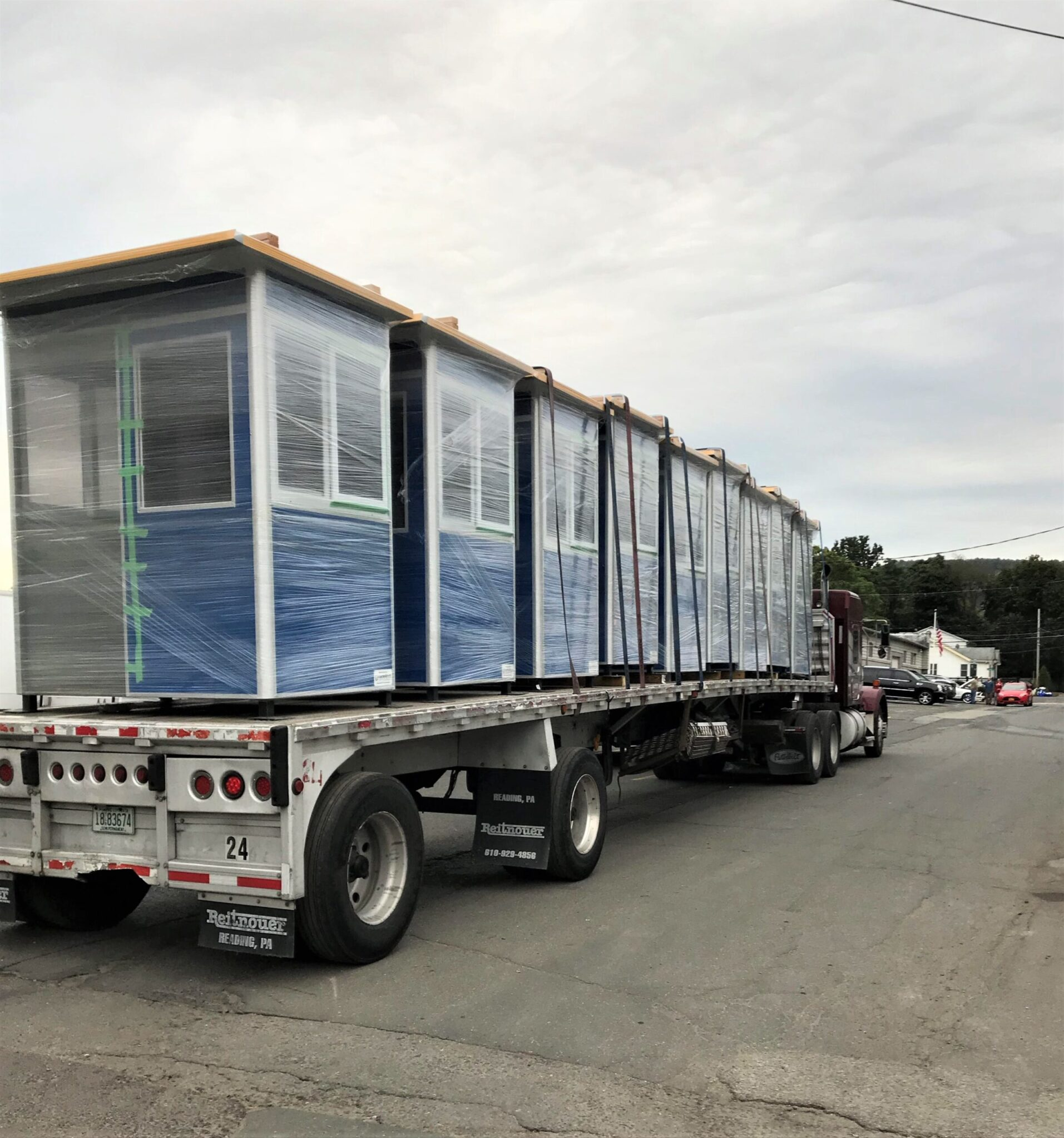 4x6 Booths Ready for Delivery in Ft Lauderdale, FL with Sliding Door, Sliding Windows, and Anchoring Brackets