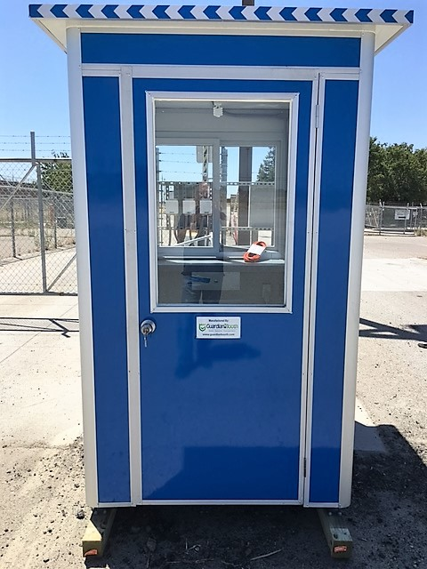 4x6 Construction Site Booth in French Camp, CA with a Swing Door, Sliding Windows, and a Built-in AC