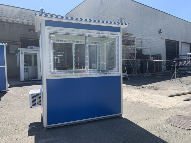 4x6 Construction Site Booth in New Bern, NC with Roof Rings 4