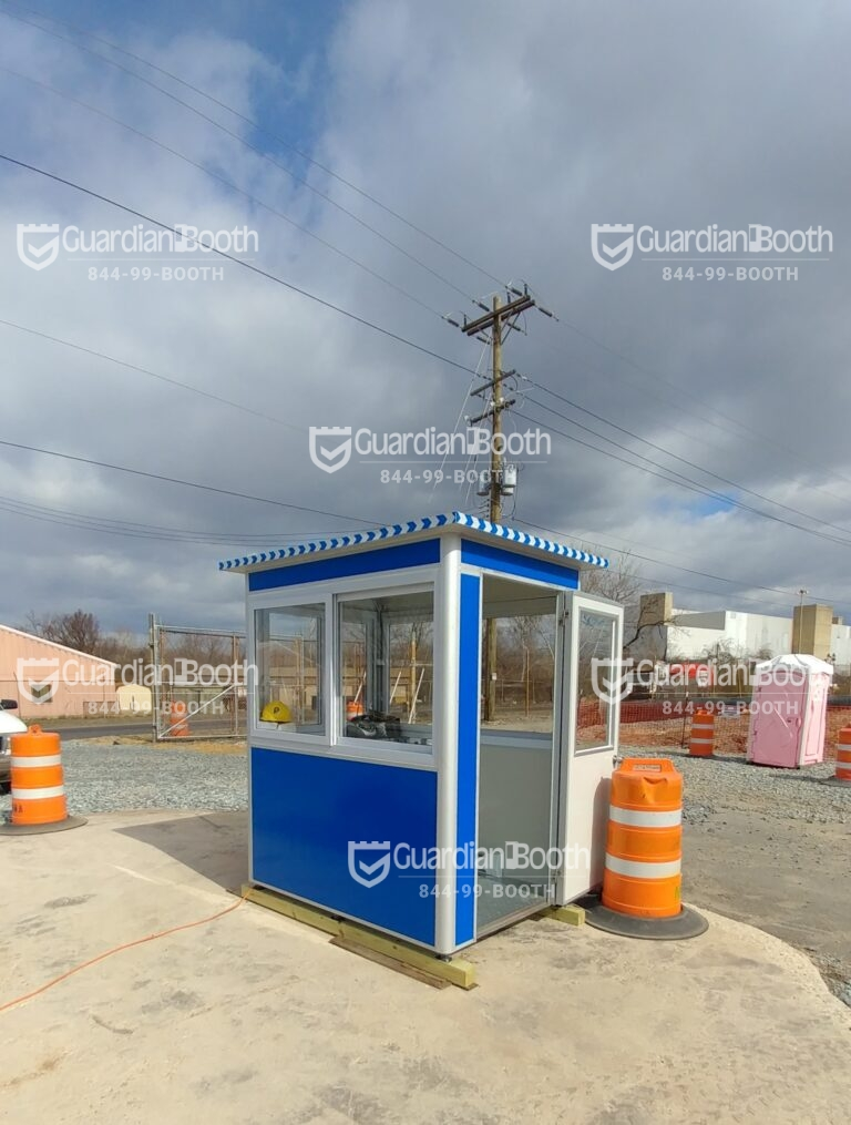 4x6 Construction Site Booth in Washington, DC with Baseboard Heaters, Sliding Windows, and Swing Door