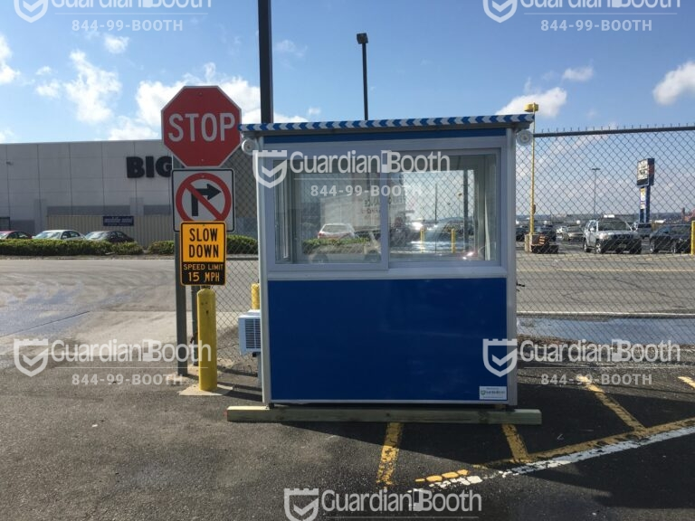 4x6 Entrance Gate Booth in Elizabeth NJ with Exterior Spolights and AC
