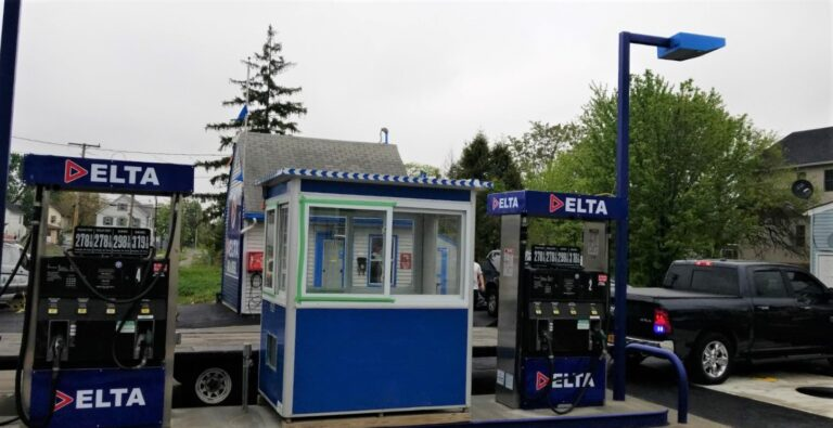 4x6 Gas Station Attendant Booth in Marroquin, NJ