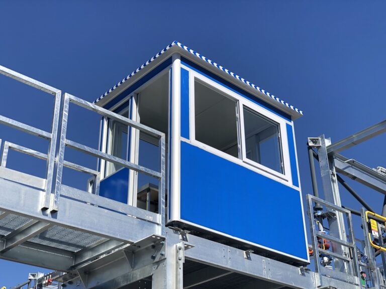 4x6 General Security Mounted booth with Sliding Windows