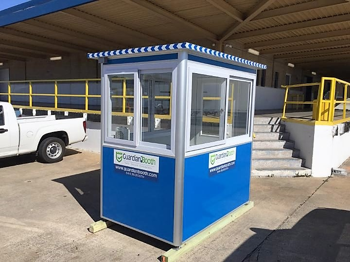 4x6  Parking Booth in Greenville SC with Sliding Windows, Swing Door, Built-in AC, and Baseboard Heaters