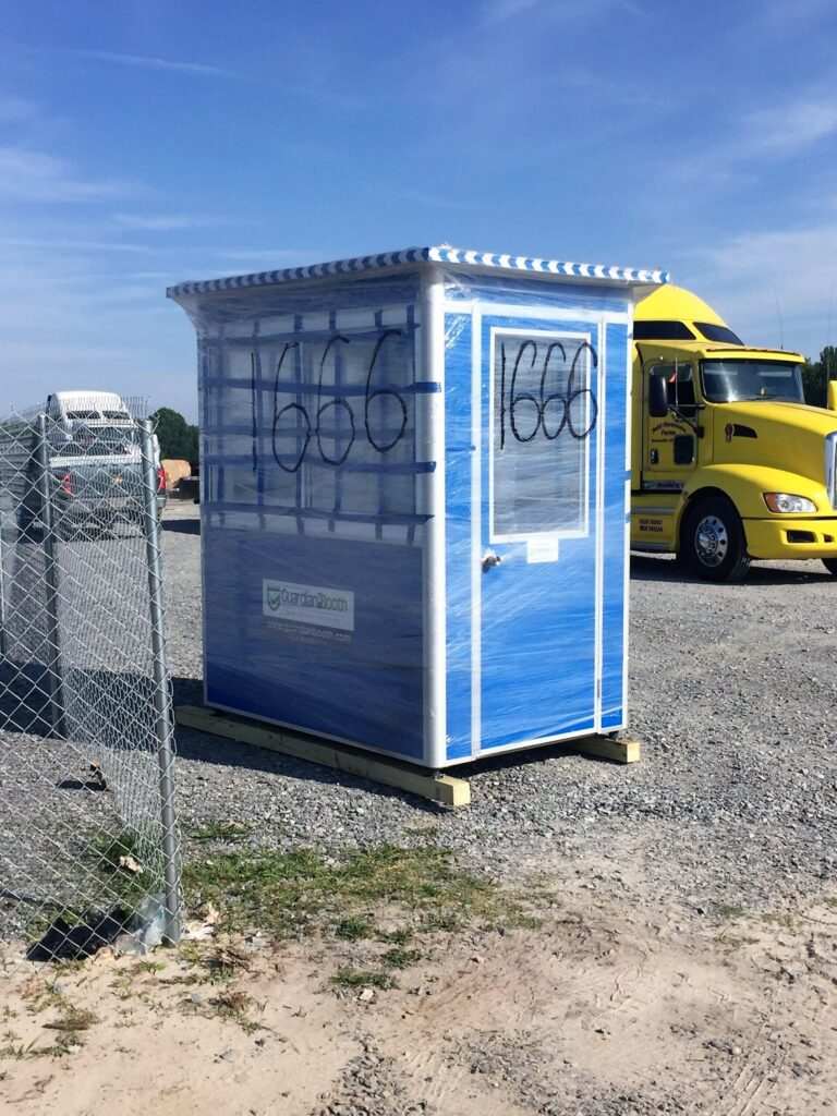 4x6 Rental Booth Delivered in Newsom, VA with Sliding Windows and Swing Door