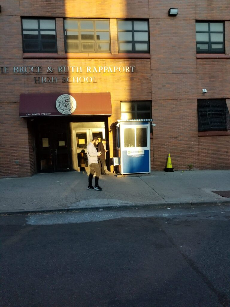 4x6 School Security Booth in Brooklyn, NY with AC