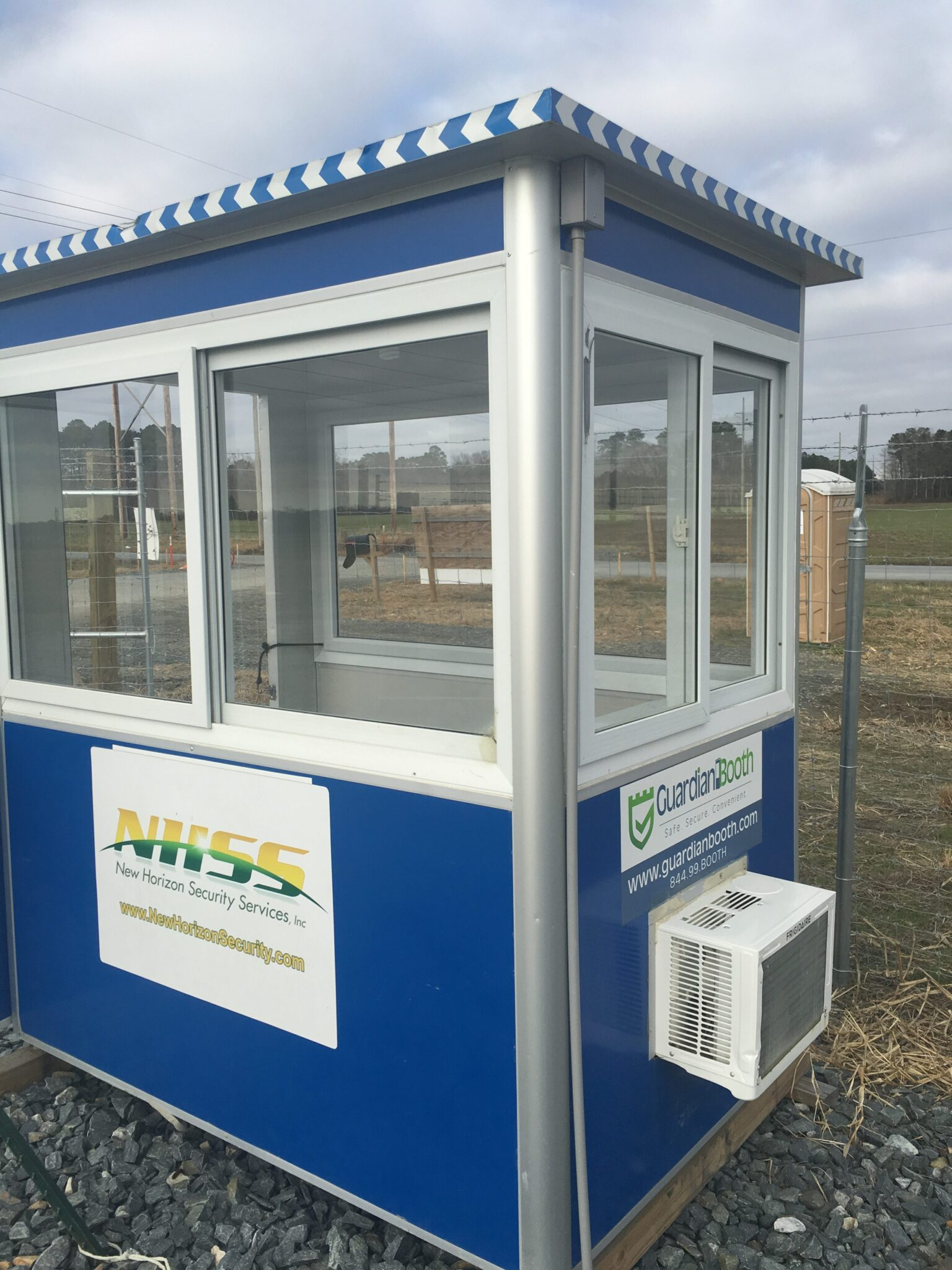 4x6 Security Guard Booth in Oak Hall, VA with Built-in AC, Baseboard Heaters, Sliding Windows, and Breaker Panel Box