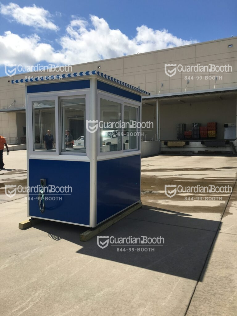 4x6 Security Guard Booth in Orlando, FL with Sliding Windows, Ethernet Port And Phone Line, and Exterior Electrical Disconnect Switch
