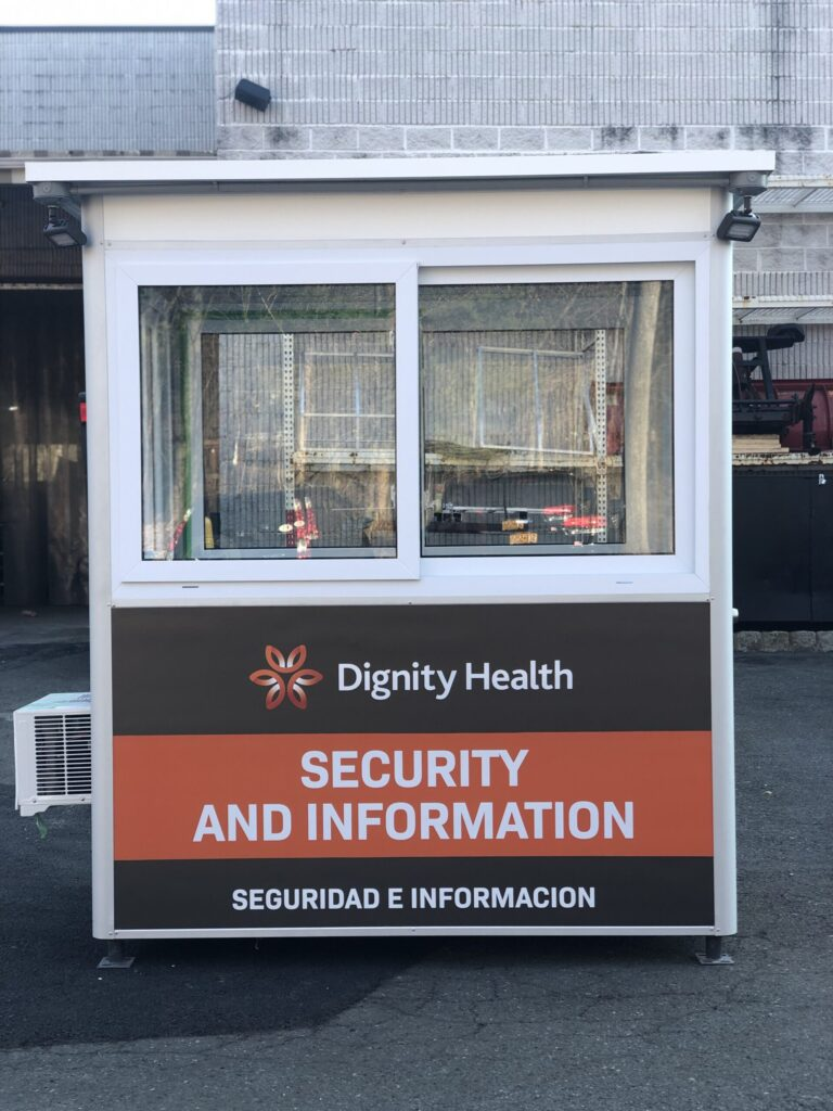 4x6 Security Guard Booth in San Luis Obispo, CA with Sliding Windows and Breaker Panel Box