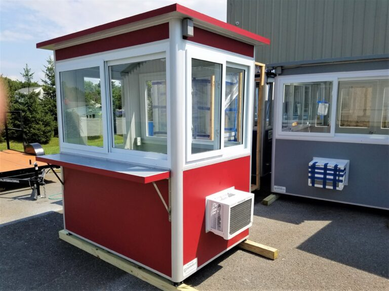 4x6 Ticket Booth in Albany, NY with Custom Exterior Color, Exterior Counter, Built-in AC, and Breaker Panel Box