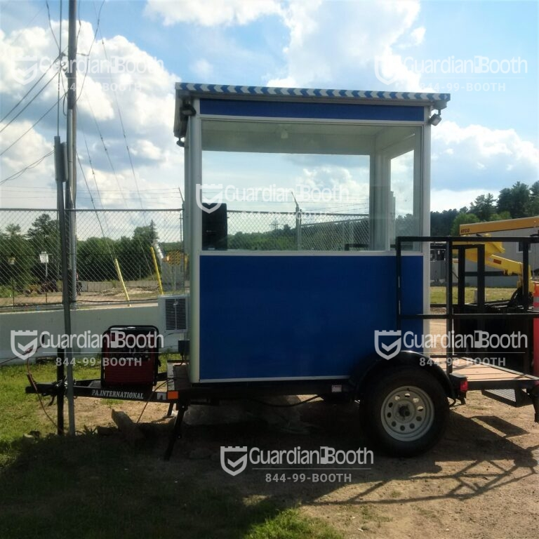 4x6 Trailer Booth in Chalk River, ON with Outside Spotlights, Generator, Breaker Panel Box, Built-in AC, and Baseboard Heaters
