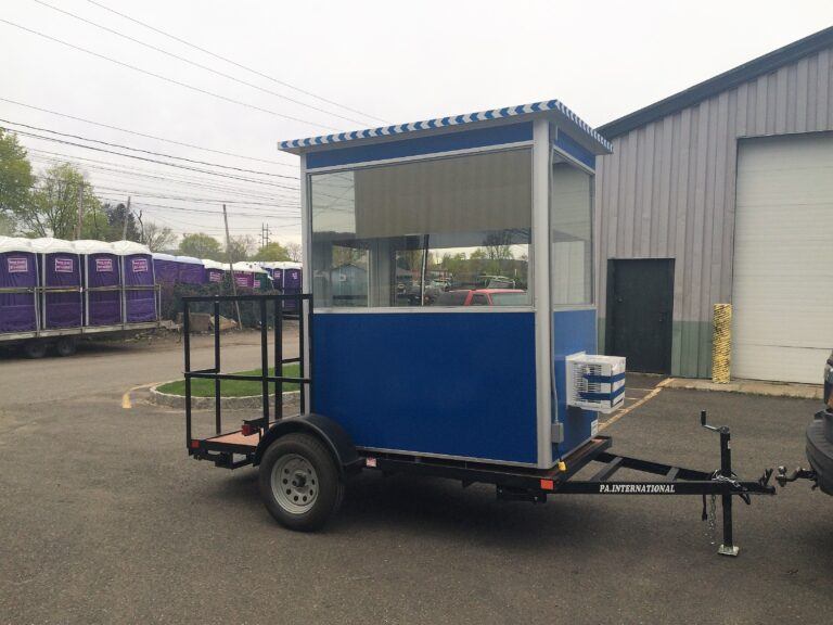 4x6 Trailer Booth in Ulster, PA with Tinted Windows, Built-in AC, Breaker Panel Box, and Baseboard Heaters(1)