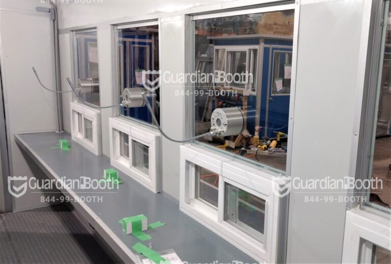 6x16 Booth with Add-on Feature Ticket Transaction Windows, Microphone, Extra Desk